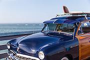 Vintage Woody Surf Car