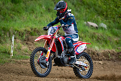 Gajser Tim during warmup lap during Slovenian Championship in Motocross, on June 2nd, 2019 in Orehova Vas, Slovenia. Photo by Blaž Weindorfer / Sportida