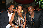 Unik, Kelis, Kayne West, and behind Swiss Beatzís . ìPreî Pre-VMA Party Hosted by Unik and Kelis .PM Lounge .New York, NY, USA.Tuesday, August 29, 2006.Photo By Selma Fonseca/ Celebrityvibe.com.To license this image call (212) 410 5354 or;.Email: celebrityvibe@gmail.com; .Website: http://www.celebrityvibe.com/. ....