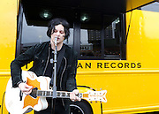 AUSTIN, TX - March 16th, 2011: Jack White performs in a parking lot  at the 2011 SXSW festival in Austin, TX.   (Photo by Kyle Gustafson/For The Washington Post)