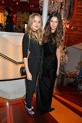 Left to right, ALEXANDRA CARL and SARAH ANN MACKLIN at the OMEGA 100 days to Rio Olympics VIP Dinner at Sushi Samba, Heron Tower, 110 Bishopsgate, City of London on 27th April 2016.