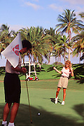 Couple, Golfing, Koolina, Oahu, Hawaii