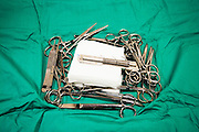 Vet's Clinic, for pets and small animals a set of surgical tools