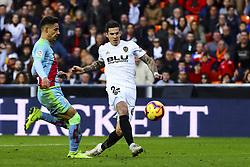 November 24, 2018 - Valencia, Spain - Santi Mina of Valencia CF  during la liga Match between Valencia CF and Rayo Vallecano a at Mestalla  Stadium on  November 24, 2018. (Credit Image: © Jose Miguel Fernandez/NurPhoto via ZUMA Press)