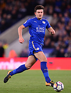 Harry Maguire of Leicester city in action .Premier league match, Leicester City v West Bromwich Albion at the King Power Stadium in Leicester, Leicestershire on Monday 16th October 2017.<br /> pic by Bradley Collyer, Andrew Orchard sports photography.