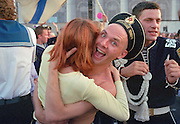 Saint Petersburg, Russia, 28/07/2002..Sailors drink, dance and party in the streets on Russian Navy Day. Peter the Great founded the Russian Navy, and St Petersburg remains the home of the fleet. Navy Day brings the ships to port and the sailors to shore.......