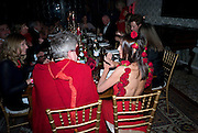 WARLY TOMEI, Francesca Bortolotto Possati, Alessandro and Olimpia host Carnevale 2009. Venetian Red Passion. Palazzo Mocenigo. Venice. February 14 2009.  *** Local Caption *** -DO NOT ARCHIVE -Copyright Photograph by Dafydd Jones. 248 Clapham Rd. London SW9 0PZ. Tel 0207 820 0771. www.dafjones.com<br /> WARLY TOMEI, Francesca Bortolotto Possati, Alessandro and Olimpia host Carnevale 2009. Venetian Red Passion. Palazzo Mocenigo. Venice. February 14 2009.