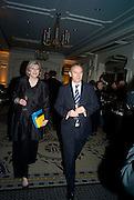 THERESA MAY MP AND GRAHAM BOYES, Veuve Cliquot Business Woman Award. Berkeley Hotel 8 April 2008.  *** Local Caption *** -DO NOT ARCHIVE-© Copyright Photograph by Dafydd Jones. 248 Clapham Rd. London SW9 0PZ. Tel 0207 820 0771. www.dafjones.com.
