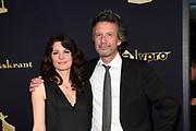 Gouden Kalveren Gala van de Nederlandse film in het Beatrix Theater, Utrecht.<br /> <br /> op de foto:  Rifka Lodeizen en partner