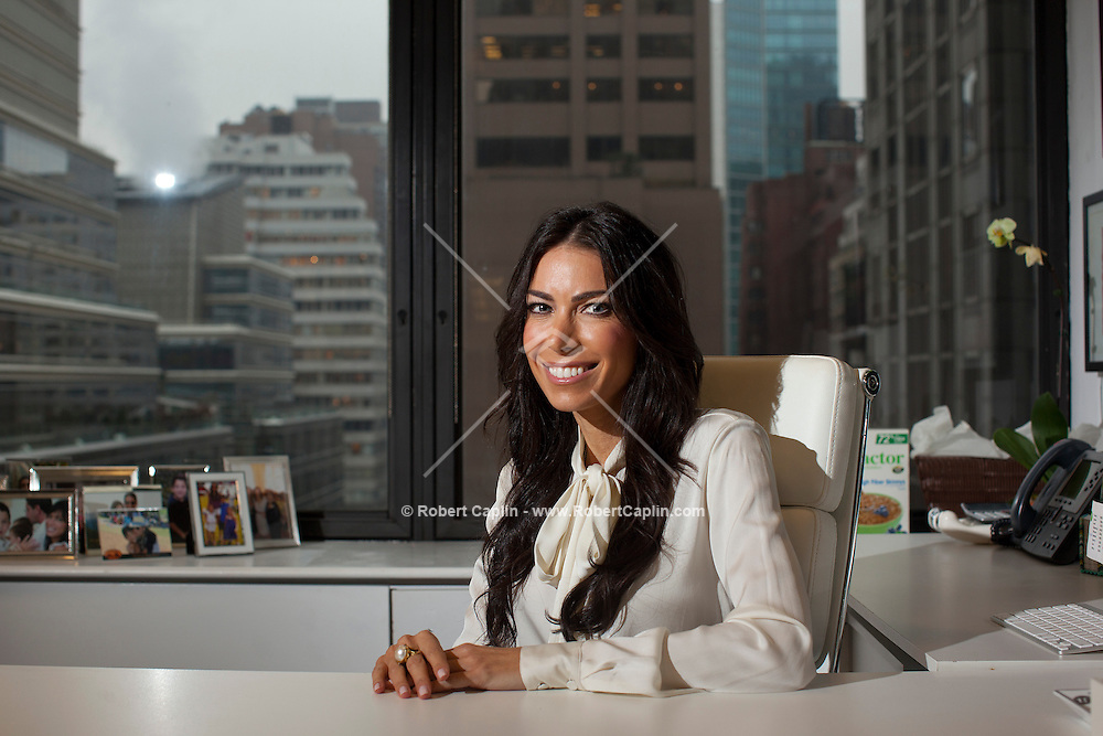 Nutritionist Tanya Zuckerbrot in her New York office.<br /> <br /> Photo © Robert Caplin