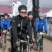 NLD/Biddinghuizen//20170305 - De Hollandse 100 - Stichting Lymph & Co 2017, Simon Keizer op de racefiets