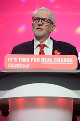© Licensed to London News Pictures. 21/11/2019. Birmingham, UK. British Labour party leader Jeremy Corbyn makes a speech at the launch of the parties General Election Manifesto. Photo credit: Ray Tang/LNP