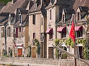 Restaurants and hotels on the Dordogne River in La Roque Gageac, Dordogne, France