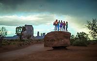 Demetrios Brinkmann, Heeki Park, Devi, Abby Chan & Oihanna Garcia at Monument Valley, Arizona