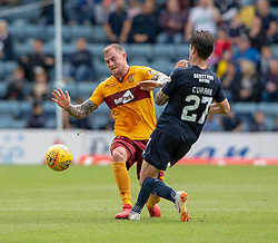 Motherwell's Richard Tait and Dundee's Jesse Curran. Dundee 1 v 3 Motherwell, SPFL Ladbrokes Premiership game played 1/9/2018 at Dundee's Kilmac stadium Dens Park