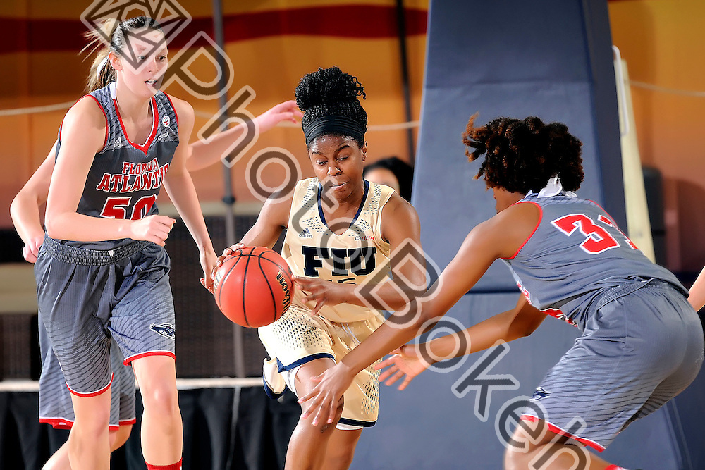 2016 February 27 - FIU's Kristian Hudson (15). <br /> Florida International University fell to Florida Atlantic University, 52-63, at Lime Court, in the FIU Arena, Miami, Florida. (Photo by: Alex J. Hernandez / photobokeh.com) This image is copyright by PhotoBokeh.com and may not be reproduced or retransmitted without express written consent of PhotoBokeh.com. ©2016 PhotoBokeh.com - All Rights Reserved