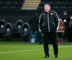 Northampton Saints Coach Dorian West during the pre match warm up<br /> <br /> Photographer Simon King/Replay Images<br /> <br /> EPCR Champions Cup Round 4 - Ospreys v Northampton Saints - Sunday 17th December 2017 - Parc y Scarlets - Llanelli<br /> <br /> World Copyright © 2017 Replay Images. All rights reserved. info@replayimages.co.uk - www.replayimages.co.uk