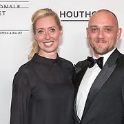 NLD/Amsterdam/20180908 - inloop Gala Het Nationale Ballet 2018, Plien van Bennekom en partner Jeroen Wassmer