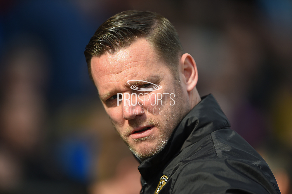 Manager Kevin Nolan during the EFL Sky Bet League 2 match between Chesterfield and Notts County at the b2net stadium, Chesterfield, England on 25 March 2018. Picture by Jon Hobley.