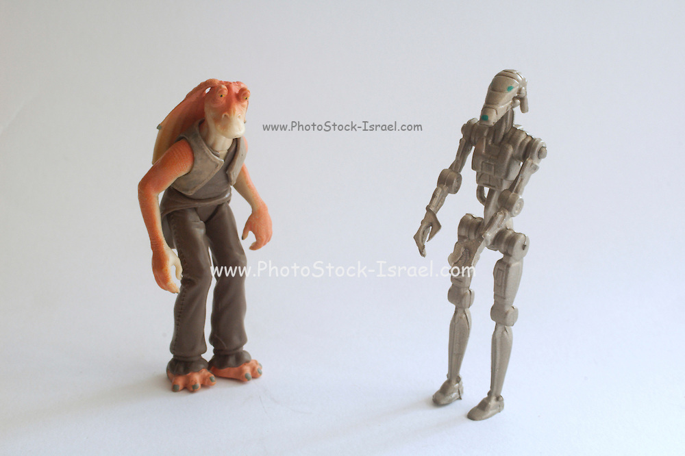 Jar Jar and battle droid Star wars action figure