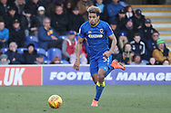 AFC Wimbledon striker Lyle Taylor (33) dribbling during the EFL Sky Bet League 1 match between AFC Wimbledon and Bristol Rovers at the Cherry Red Records Stadium, Kingston, England on 17 February 2018. Picture by Matthew Redman.