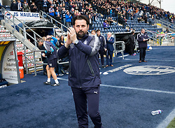 Falkirk's new manager Paul Hartley. Half time : Falkirk 0 v 0 Inverness Caledonian Thistle, Scottish Championship game played 14/10/2017 at The Falkirk Stadium.