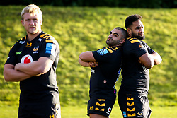 Zurabi Zhvania and Sione Vailanu of Wasps - Mandatory by-line: Robbie Stephenson/JMP - 18/11/2019 - RUGBY - Broadstreet Rugby Football Club - Coventry , Warwickshire - Wasps Squad Photo