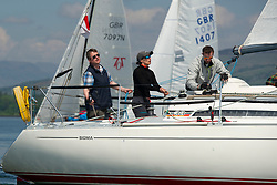 Day 3 Scottish Series, SAILING, Scotland.<br /> <br /> GBR 8858C, Close Encounters, FYC<br /> <br /> The Scottish Series, hosted by the Clyde Cruising Club is an annual series of races for sailing yachts held each spring. Normally held in Loch Fyne the event moved to three Clyde locations due to current restrictions. <br /> <br /> Light winds did not deter the racing taking place at East Patch, Inverkip and off Largs over the bank holiday weekend 28-30 May. <br /> <br /> Image Credit : Marc Turner / CCC