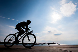 Cyclist during prologue (2km) of 13th Istrian Spring Trophy cycling race on March 10, 2016 in Umag, Croatia. Photo by Urban Urbanc / Sportida