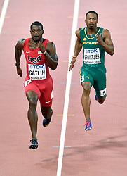 22-08-2015 CHN: IAAF World Championships Athletics day 1, Beijing<br /> Justin Gatlin USA, Henricho Bruintjes RSA