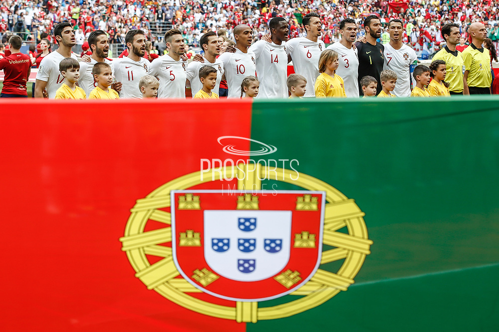 Team of Portugal during the 2018 FIFA World Cup Russia, Group B football match between Portugal and Morocco on June 20, 2018 at Luzhniki stadium in Moscow, Russia - Photo Thiago Bernardes / FramePhoto / ProSportsImages / DPPI