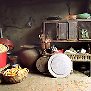 Kitchen interior in a traditional village house in Yen So, Ha Tay province, Vietnam.