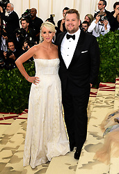 James Corden and Julia Carey attending the Metropolitan Museum of Art Costume Institute Benefit Gala 2018 in New York, USA. PRESS ASSOCIATION Photo. Picture date: Picture date: Monday May 7, 2018. See PA story SHOWBIZ MET Gala. Photo credit should read: Ian West/PA Wire
