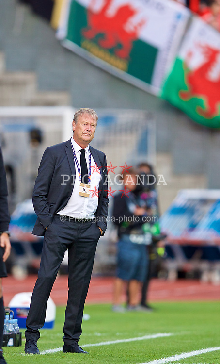 AARHUS, DENMARK - Sunday, September 9, 2018: Denmark's head coach Aage Hareide during the UEFA Nations League Group Stage League B Group 4 match between Denmark and Wales at the Aarhus Stadion. (Pic by David Rawcliffe/Propaganda)