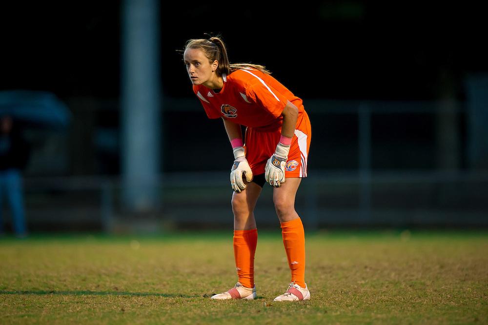 Oct 23, 2013; Morrow, GA, USA; Clayton State women's soccer player Charlotte McCormack against Georgia Southwestern at CSU. CSU won 4-0. Photo by Kevin Liles/kevindliles.com