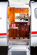 Galley of a Lear Jet 45, photographed at Atlanta's Dekalb Peachtree Airport (PDK).  <br /> <br /> Created by aviation photographer John Slemp of Aerographs Aviation Photography. Clients include Goodyear Aviation Tires, Phillips 66 Aviation Fuels, Smithsonian Air & Space magazine, and The Lindbergh Foundation.  Specialising in high end commercial aviation photography and the supply of aviation stock photography for advertising, corporate, and editorial use.