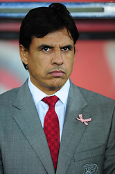 Wales Manager, Chris Coleman  - Photo mandatory by-line: Joe Meredith/JMP  - Tel: Mobile:07966 386802 12/10/2012 - Wales v Scotland - SPORT - FOOTBALL - World Cup Qualifier -  Cardiff   - Cardiff City Stadium -
