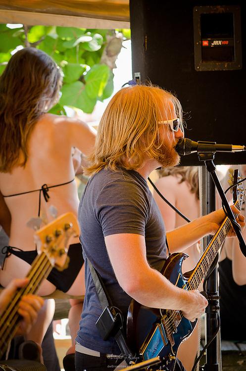 A local band performing at the Postcard Inn's Beach Bar in St. Pete Beach, Florida.
