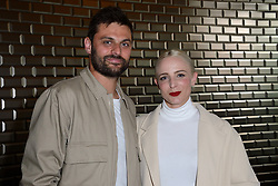Group 'Madame Monsieur' Emilie Satt and Jean-Karl Lucas attending the Jean-Paul Gaultier Haute Couture Paris Fashion Week Fall/Winter 2018/19 held in Paris, France on july 04, 2018. Photo by Aurore Marechal/ABACAPRESS.COM