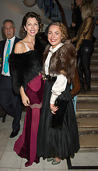 Left to right, MARGO STILLEY and MARTHA SITWELL at the Tatler Little Black Book Party at Home House Member's Club, Portman Square, London supported by CARAT on 11th November 2015.
