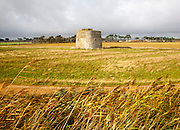 Martello Tower Z built during the Napoleonic War in the early nineteenth century, Alderton, Suffolk, England, UK