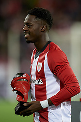 February 10, 2019 - Bilbao, Vizcaya, Spain - Inaki Williams of Athletic receive the best player of the month award during the week 23 of La Liga between Athletic Club and FC Barcelona at San Mames stadium on February 10 2019 in Bilbao, Spain. (Credit Image: © Jose Breton/NurPhoto via ZUMA Press)