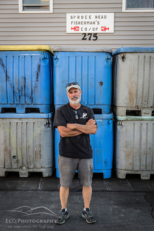 Spuce Head Fisherman's Co-op president Bob Baines. South Thomaston, Maine.