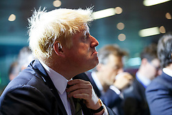 © Licensed to London News Pictures. 06/08/2014. LONDON, UK. Mayor of London, Boris Johnson arriving at Bloomberg HQ in central London to deliver a speech on Europe. Photo credit : Tolga Akmen/LNP