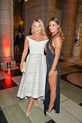 Left to right, LYDIA BRIGHT and CHLOE LEWIS at the Revlon Choose Love Masquerade Ball held at the V&A Museum, Cromwell Road, London on 21st July 2016.