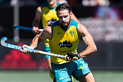 Trent Mitton of Australia during the Champions Trophy finale between the Australia and India on the fields of BH&BC Breda on Juli 1, 2018 in Breda, the Netherlands.