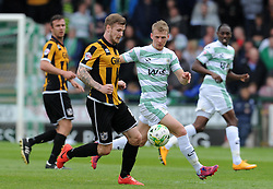 Port Vale's Michael O'Connor looks to break past Yeovil Town's Stephen Kingsley- Photo mandatory by-line: Harry Trump/JMP - Mobile: 07966 386802 - 25/04/15 - SPORT - FOOTBALL - Sky Bet League One - Yeovil Town v Port Vale - Huish Park, Yeovil, England.