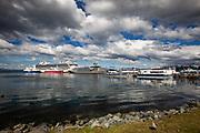 Antarctic Cruise Liner Docking in Ushuaia, Patagonia, Argentina