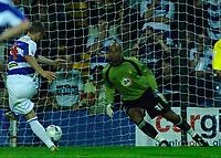 Photo: Daniel Hambury.<br />Queens Park Rangers v Leeds United. Coca Cola Championship. 08/08/2006.<br />QPR's Martin Rowlands scores from the spot to make it 1-1.