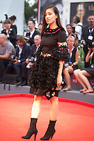 Yi Zhou at the gala screening for the film Everest and opening ceremony at the 72nd Venice Film Festival, Wednesday September 2nd 2015, Venice Lido, Italy.
